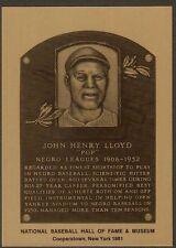JOHN HENRY POP LLOYD Negro Leagues HOF METALLIC PLAQUE CARD ~1 of 1000 issued~