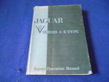 Original Jaguar XKE Series III V-12 Factory Workshop Manual Publication E165/2