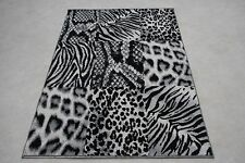 Quality Multi Zebra Tiger Rug 120cm x 170cm Multi Jungle Safari Animal Print