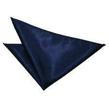 Handkerchief Hanky Pocket Square Solid Plain Mens Formal Casual Accessory by DQT