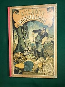 Giuseppe Mercalli Atlante di Mineralogia 1890 Hoepli 24 tavole miniate 490 ill.
