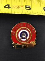 Vintage Curling Club 2nd Place Wisconsin Button Pin Pinback *QQ7