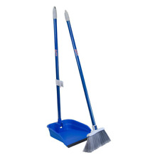 stand and store lobby broom and dustpan set | cleaning floor home kitchen with