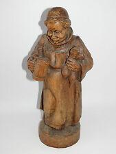 Mönch,Holz Figur,Bier,Krug,Groß,Holzschnitzerei,Dekoration,Aufstellfigur