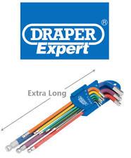 Draper 9 PIEZAS COLOR EXTRA LARGO ALCANCE Hex métrica / Juego de llaves Allen