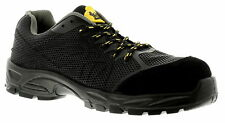 Tradesafe Compo Black Suede Lace Up Light Weight Composite Toe Cap Safety Shoe