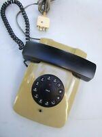 Vintage Retro Telephone  Land Line Push Button Cream & Black Decor