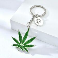Vicney Cannabi Leaf Key Chain Light Green Plant Keychain Keyring key tag
