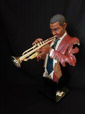 "Jazz Band Collection - TRUMPET PLAYER 23"" Bust Statue Sculpture"