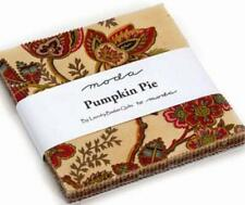 "SPECIAL PRICE 5"" Squares Pumpkin Pie Charm Pack Moda Fabric Quilt 100% Cotton"