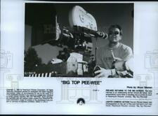 1989 Press Photo Director Randal Kleiser on the set of Big Top Pee-wee