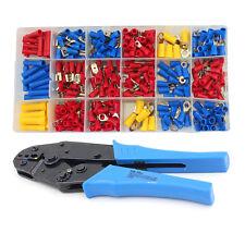 295pcs Spade Fork Ring Fork Terminals Crimper Crimping Plier Assortment Tool Set