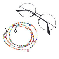Fashion Colorful Pearl Beads Sunglasses Eyeglass Lanyard Cord Holder Chain St SE