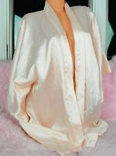 VTG Victoria's Secret Baby Pink Satin Classy Sissy Coverup Robe Nightgown sz S