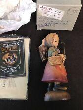 "Vintage Anri Ferrandiz Wooden Figure - To Market 6"", Limited Edition Mint - New"