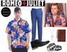 Men's Romeo and Juliet Japanese Floral Button Up Short Sleeve Shirt