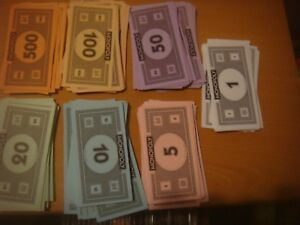 Monopoly - 80 Spare Replacement Modern Plain Back Notes Bank Notes Money Current