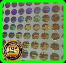 4800 Hologramm Etiketten, Siegel, Garantie, Aufkleber tamper evident rund 6mm