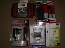 NINTENDO DS LITE ACCESSORY PACK LOT Battery Cases Mains Charger - BRAND NEW!