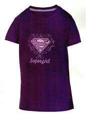 T-SHIRT FILLE SUPERMAN / SUPERGIRL MAUVE 7/8 ans