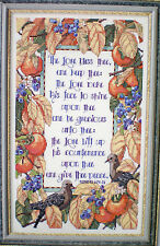"""Nancy Rossi """"Bless Thee and Keep Thee"""" Counted Cross Stitch Pattern"""