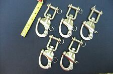 "5"" Swivel Snap Shackle With Jaw 316 SS 10 pc"