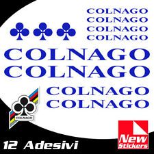 Set 12 adesivi COLNAGO colore BLU  bici bike stickers decals frame BLUE