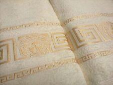 New 100% cotton Versace towel color Ivory
