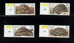 Z336 Southwest Afrique 1982 Faune Tortues Tortue 4v. MNH