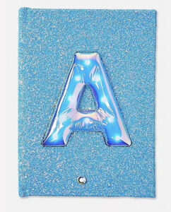 NWT Justice Girls Light-Up Balloon Initial Journal! Choose Letter A, D, I or K!