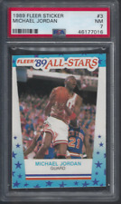 1989 Fleer Sticker # 3 Michael Jordan PSA 7 High End