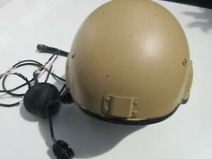 BRITISH ARMY A.F.V. HELMET WITH BUILT IN CLANSMAN HEADSET (untested)