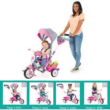 Kids Trike Pink Tricycle Adjustable Seat Adjustable Seat