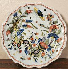 New listing Antique French Cornucopia Faience Plate Rouen 18th 19th C Tin Glazed Majolica