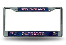 New England Patriots Metal Chrome License Plate Frame Auto Truck Car NFL