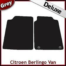 Citroen Berlingo Van Mk1 1996-2007 2-Clips Tailored LUX 1300g Carpet Mats GREY