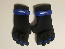 Shimano Fishing Gloves Neoprene Large Black/Blue with conv thumb & index finger
