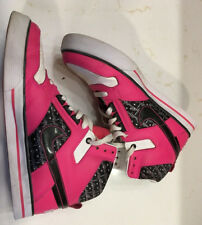 Womens Nike Delta Force Tennis Shoe Size 9 Leather, Pink, White and Black