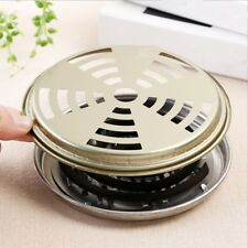 16cm Mosquito Repellent Box Cover Coil Holder Incense Plate Safety Windproof*2pc