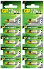 10 Pcs GP 27A GP27A 12V Alkaline Remote Battery