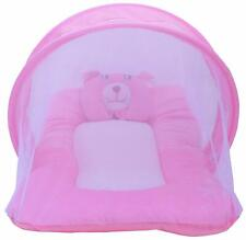 Baby Infant Portable Folding Travel Bed with Mosquito Net For Nursery (Pink)