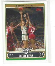 2006-07 TOPPS BASKETBALL LARRY BIRD VARIATION W/ JOHNNY DAWKINS #33 - CELTICS