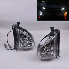 For Chevy Equinox LED Clear Bumper Fog Light Driving Turn Signal Indicator LH+RH