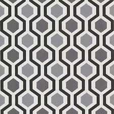 347-20133 Modern Geometric Black and White Trellis Wallpaper
