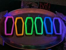 Neon Black Light Active UV Coffin Candles Beckwitch BeckWisp Pagan Wicca Goth