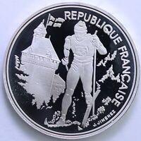 FRANCE 100 FRANCS ALBERTVILLE 92 SKI DE FOND 1991 ARGENT