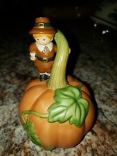 Avon Thanksgiving 1990 Pilgrim Pumpkin Bell