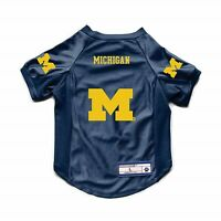 NEW MICHIGAN WOLVERINES DOG CAT DELUXE STRETCH JERSEY