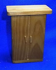 Vintage German Wood Dollhouse Furniture Cabinet #N15