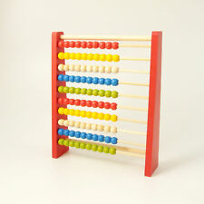 Abacus Wooden Counting Beads Early Learning Numbers Educational 10 Bars